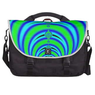 Green and Blue Bubbles Fractal Commuter Bag
