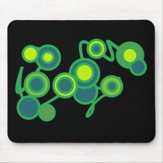 Green and Blue Bubbles Mousepad mousepad