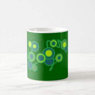 Green and Blue Bubbles Mug