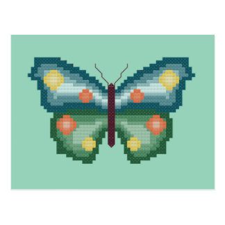 Green and Blue Butterfly Postcard