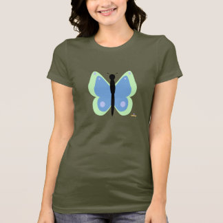 Green And Blue Butterfly T-Shirt