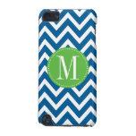 Green and Blue Chevron Custom Monogram iPod Touch 5G Case
