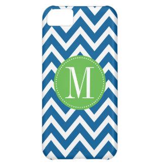 Green and Blue Chevron Custom Monogram Case For iPhone 5C