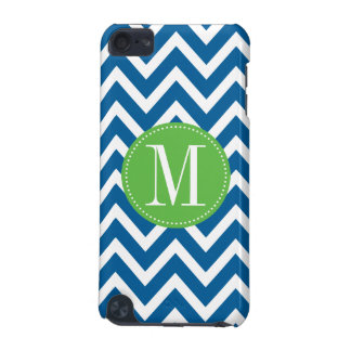 Green and Blue Chevron Custom Monogram iPod Touch (5th Generation) Case