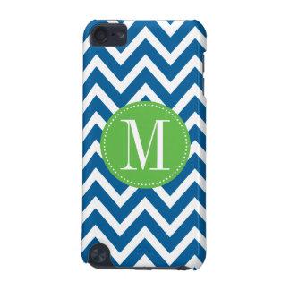 Green and Blue Chevron Custom Monogram iPod Touch (5th Generation) Case