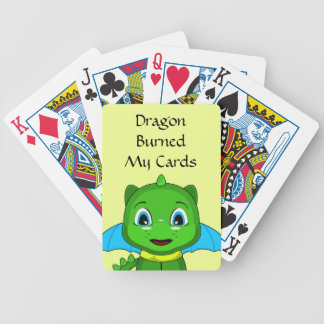 Green And Blue Chibi Dragon Bicycle Playing Cards