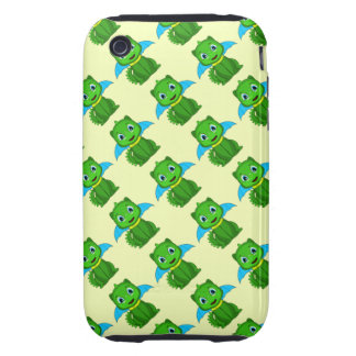 Green And Blue Chibi Dragon Tough iPhone 3 Case