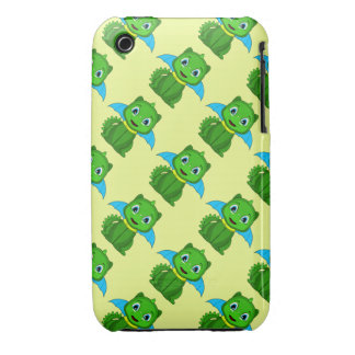 Green And Blue Chibi Dragon iPhone 3 Case-Mate Case