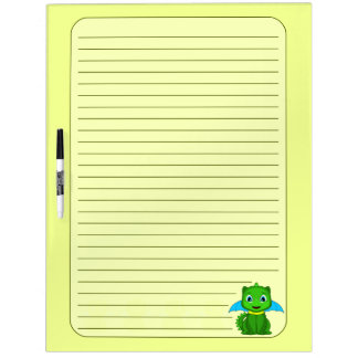 Green And Blue Chibi Dragon Dry-Erase Whiteboards