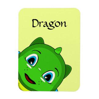 Green And Blue Chibi Dragon Rectangular Photo Magnet