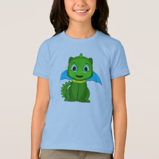 Green And Blue Chibi Dragon T-Shirt