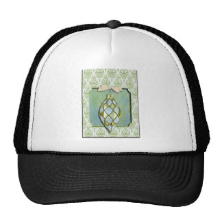 Green and Blue Christmas Tree Ornament Hats