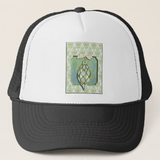 Green and Blue Christmas Tree Ornament Trucker Hat