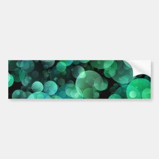 Green and Blue Circle Bubbles over a Black Backgro Bumper Sticker