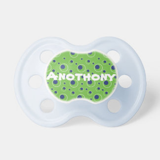 Green and Blue Circles Dots Custom Baby Pacifier BooginHead Pacifier