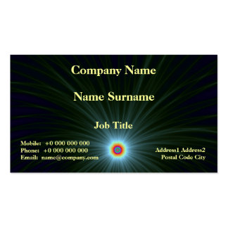 Green and Blue Color Explosion Double-Sided Standard Business Cards (Pack Of 100)