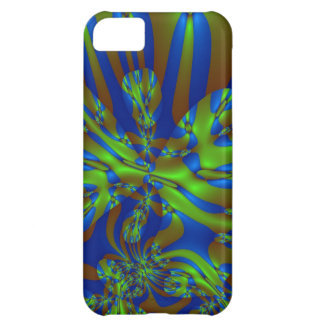 Green and Blue Colorful Abstract Stripes Pattern iPhone 5C Case