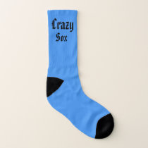 Green and Blue Crazy Sox Socks