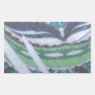 green and blue design rectangular sticker