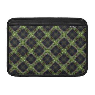 "Green and Blue Diamond Pattern 11"" MacBook Sleeves"