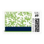 Green and Blue Floral Pattern Postage