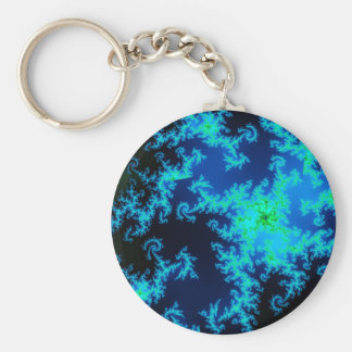 Green and blue fractal keychain