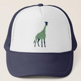 Green and Blue Giraffe Trucker Hat