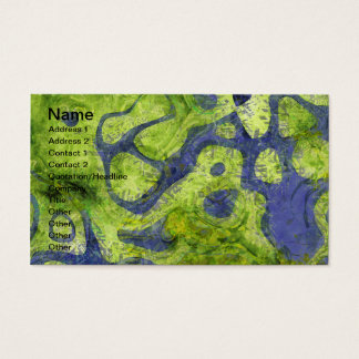 GREEN AND BLUE GRUNGE BUSINESS CARD