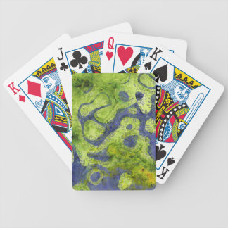 GREEN AND BLUE GRUNGE BICYCLE POKER CARDS