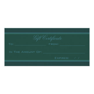Green And Blue Heart Damask Customized Rack Card