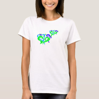Green and Blue hearts T-Shirt