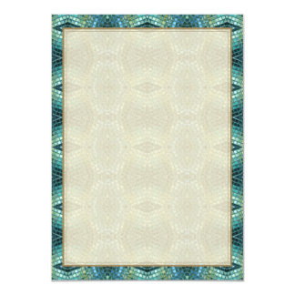 Green and Blue Jewel Toned Mosaic Card