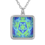 Green and Blue kaleidoscope Design Necklaces