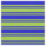 [ Thumbnail: Green and Blue Lines Fabric ]