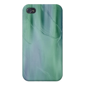 Green and Blue liquid silk effect  iPhone 4/4S Cover
