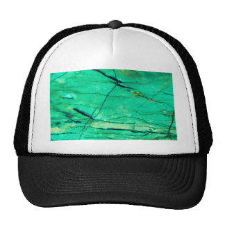 Green and blue marble trucker hat