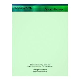 Green and Blue Metalic - Matte Look Letterhead
