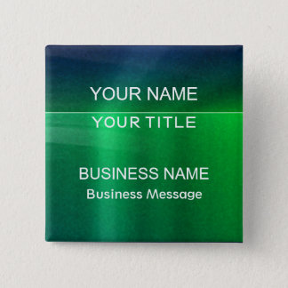 Green and Blue Metalic - Matte Look Name Tag Button
