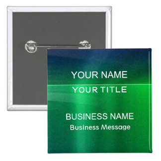 Green and Blue Metalic - Matte Look Name Tag Buttons