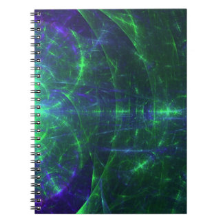 Green and Blue Notebook