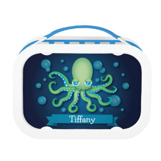 Green and Blue Octopus Yubo Lunchbox