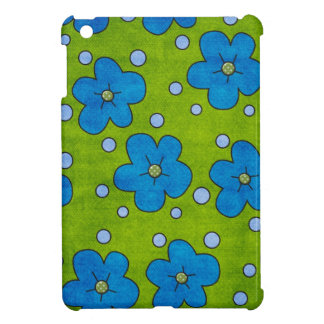Green and Blue Pansy Flowers Ipad Case iPad Mini Cases