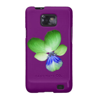 Green and Blue Pansy Samsung Galaxy S Case Galaxy S2 Covers