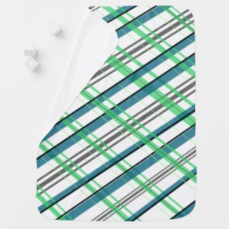 Green and Blue Plaid Baby Blanket