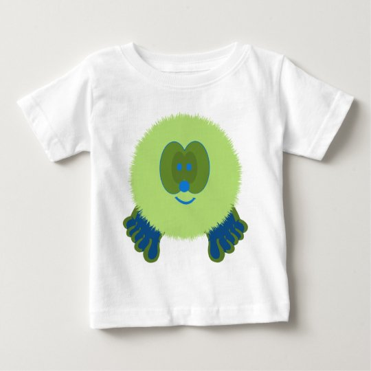 Green and Blue Pom Pom Pal Baby T-Shirt