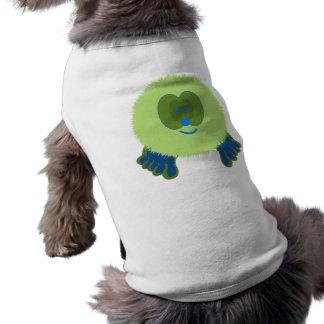 Green and Blue Pom Pom Pal Dog Tee