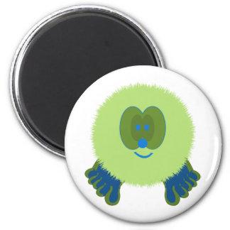 Green and Blue Pom Pom Pal Magnet