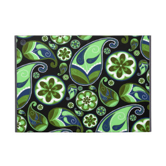 Green and Blue Retro Paisley Covers For iPad Mini