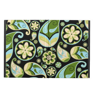 Green and Blue Retro Paisley Case For iPad Air