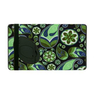 Green and Blue Retro Paisley iPad Cover